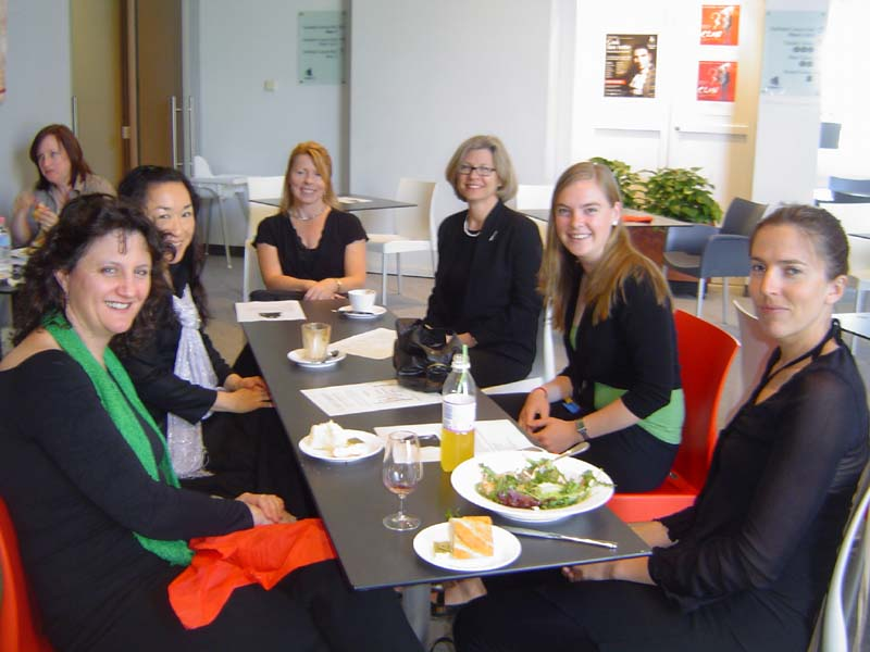 Some of the performers turned up for a rehearsal, followed by a scrumptious lunch, served up by Bernard and his cohorts, before the concert. Alison Smith, Demi Hase, Wendy Waddell, Cindy Abbey, Ruth Dodson and Carol McGregor.