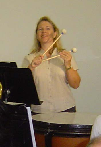 Kim Read flourishing her Timpani Beaters!