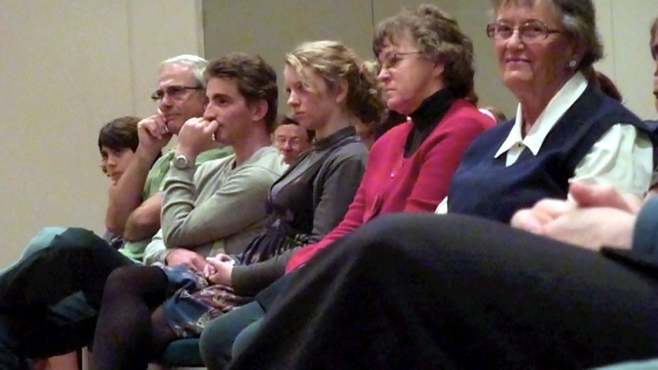 Members of the audience enjoying the performance at the chamber concert