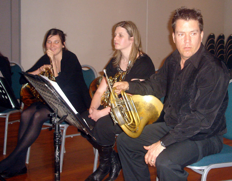 Jenna, Leona and Sarg on French Horn