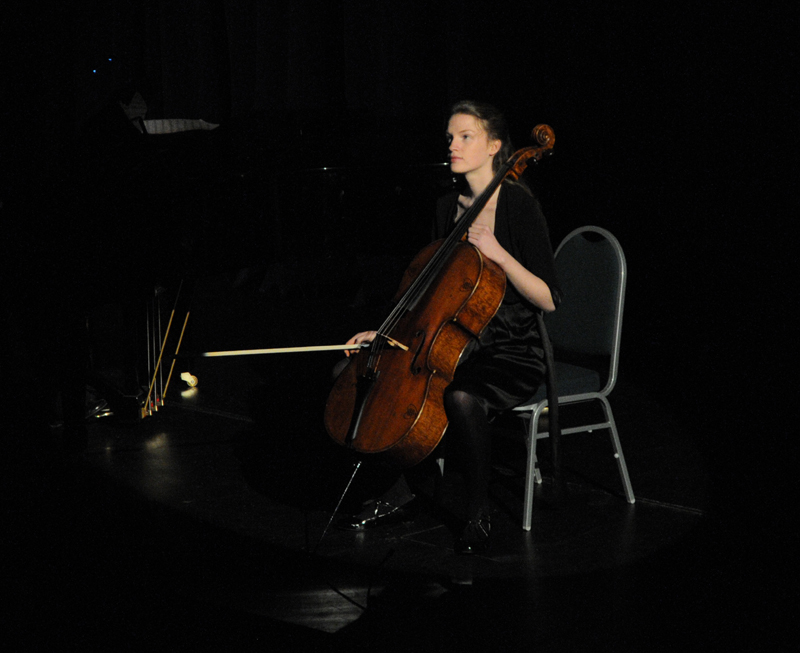 Natasha Prewett played the first movement of the Cello Concerto by Saint-Saens