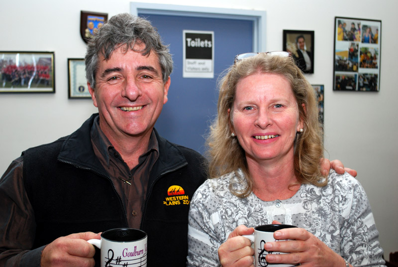 Phil and Wendy showing their support for the orchestra in their cups!
