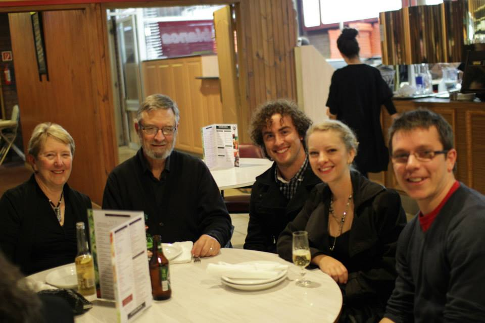 Leona, Bruce, Fliss, Jimmy and Pete after the concert at the Casablanca