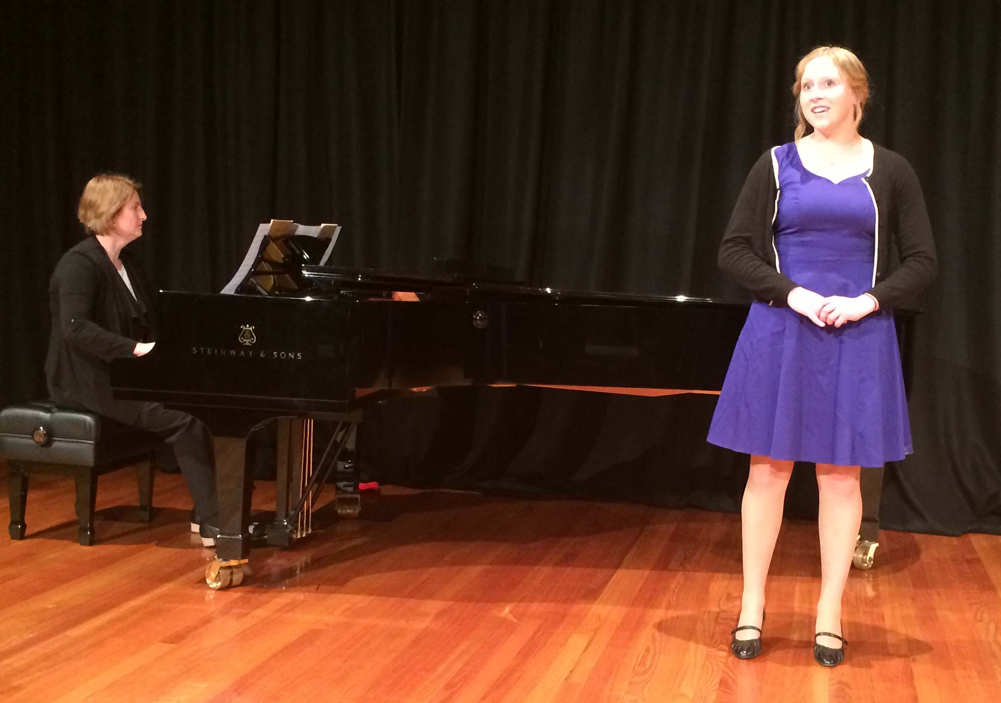 VCE singing student, Emily Shields, from Wanganui Park Secondary College sang 3 classical songs,