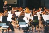 Wendy conducting the first concert given by the GVCO  in Westside in 1998. The concert was called WINDS AND STRINGS IN SPRING and it was a great success, performing to an audience of approximately 250 people. It was also the first concert held in the new WESTSIDE PAC in Mooroopna.