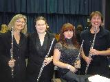 Four Flutes. Our four flautists for the anniversary Concert were Cindy Abbey, Vicki Prewett, Lia D'Augello and Nyree O'Connor.