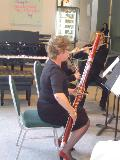 Carolyn Leslie playing Bassoon in the Wind Trio