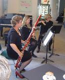 The Wind Trio, Carolyn Leslie, bassoon, Claire Freeman, clarinet and Cindy Abbey, flute, played Divertimento No. 1 by Mozart.
