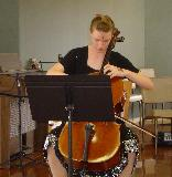 Natasha Prewett playing a concerto by Eccles for 'Cello.
