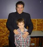 Steve Sargant and his son, Lachlan just before the concert