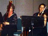 Carolyn Leslie, bassoon, and Carole McGregor, violin, during their performance of a piece by Vivaldi