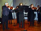 Peter Read leading the String Ensemble