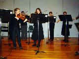 Some of the String Ensemble during the playing of FAIRLY FUGAL