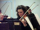 Alison Smith playing in one of the String Ensemble pieces