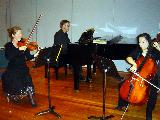 The Beethoven Trio rehearsing beforehand