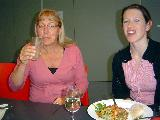 Jane and Melody enjoying lunch before the concert