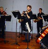 Peter, Jenna, Carole and Sam during the Horn Concerto
