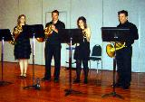 The Horn Quartet, Leona Gibbs, Sam Schubert, Jenna Bourke and Steve Sargant
