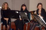 Cindy (flute), Lia (flute) and Jenna (horn)