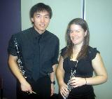 Benny and Claire, clarinet and oboe