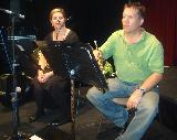 Horn players, Leona and Stephen