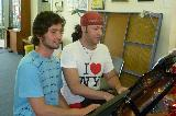 Matt and Josh playing piano duets