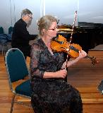 Wendy and Bruce during the performance of the Mendelssohn Trio
