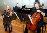 Wendy, Matt and Bruce during their performance of the Mendelssohn Piano Trio in D min, op. 49,