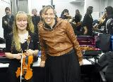 Sharon and Donna looking fired up before the concert, with Anita pax and Phil (taking the photo!) in the background!