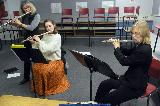 Cindy, Cassie and Rachel - Flute ensemble
