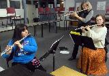Lia, Cindy and Cassie in the Flute Ensemble
