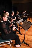 The members of the Clarinet Ensemble were Brian Matthews, Carissa Foley, Vicki Prewett, Cindy Abbey, Amanda Eagle, Johnathon Bentancourt, who played the Bass Clarinet very well, Bruce Archibald, Drums, Bruce Sterling, Piano, Charlotte Drinnan, Bass and Steven Sargant, guitar.