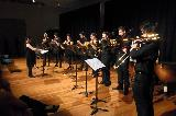 The Brass Ensemble was conducted by Amanda Eagle, especially during the Copland.