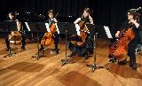 The Cello Quartet, led by Demi Wood, played Air from Suite No 3 by J S Bach, a delightful folk song called Don't You Go, apparently from the Philippines, and an arrangement of Michelle by Lennon and McCartney.