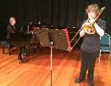 VCE trombone student, Andy Burkitt, from Wanganui Park Secondary College, played the