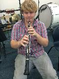 Our new oboe player, Johnathan Bentancourt