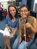 New members, violinists Zara and Priscilla