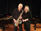 Wendy Oakes and Brian Matthews at tghe chamber concert