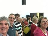 Some of the choir rehearsing at Shep High the week before the concert - including Janelle Collins, Sam Hodson