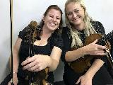 Catriona Saunders, lead 2nd violin and Kate Delahunty, viola