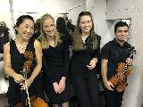 Demi Wood, cello, Stella Robinson, viola, Luisa de Bruin, cello and Imre Gontier, violin