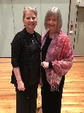 Wendy Oakes, concertmaster and Fiona Kennan, narrator for The Carnival of the Animals