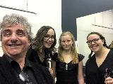 Phil Oakes, violin, Emily Hunter, violin, Lily Robinson, violin and Lira Cross, viola