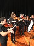 Imre Gontier, Emily Hunter , Phil Oakes, Valerie Murphy and Liesl Parnell, playing in the String Ensemble