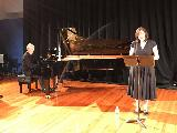Sherryn Parnell sang three arias, including Voi Che Sapete by Mozart and O Mio Babbino Caro by Verdi, accompanied by Bruce Sterling