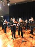 The String Ensemble, led by Wendy Oakes, with Alison Smith next to her