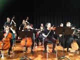 Most of the string players in the Embraceable You combo - Kerry Jennings, Ryan Bhat (cello), Jaydan Livingstone, Charlotte Drinnan, (Bass), Valerie Murphy, Alison Smith, Catriona Saunders (violin), Bruce Sterling, (viola), Matthew Head, (drums)