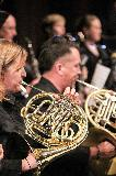 Leona Gibbs and Steven Sargant playing French Horn