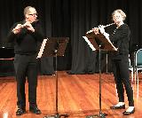 Nigel McGuckian and Cindy Abbey performing a flute duet