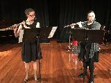 Kathleen Mills and Nyree O'Connor played a flute duet.